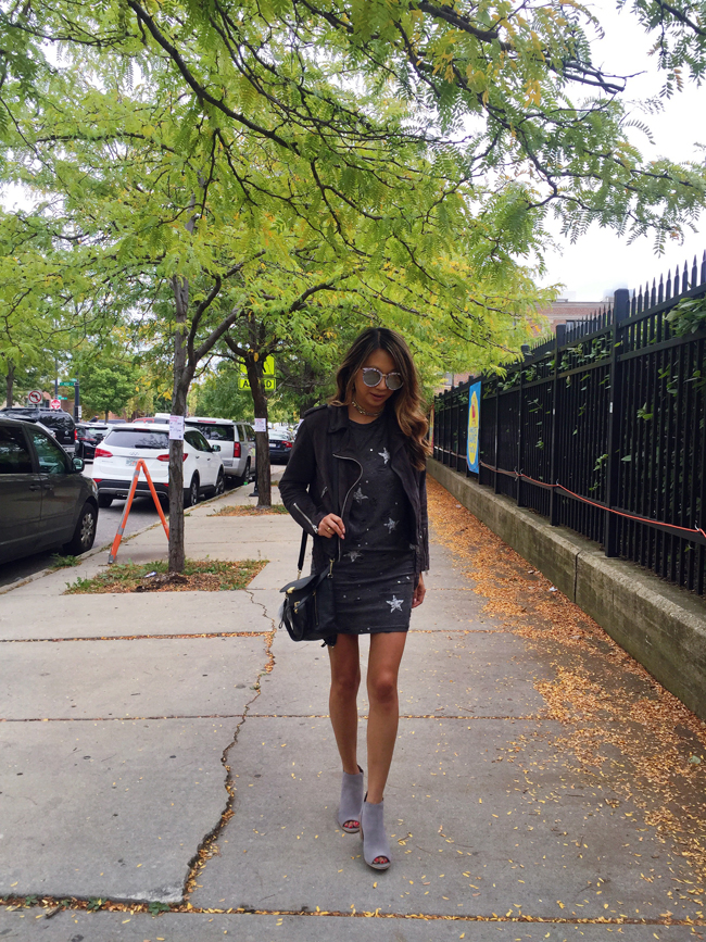 Fall Style, Chicago Fall Style, Suede Moto Jacket STyle