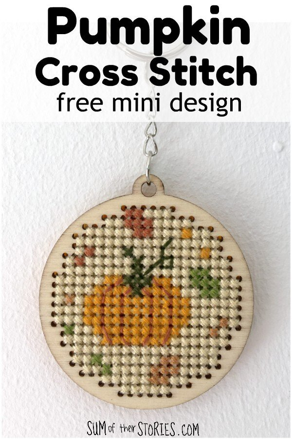 Free Pumpkin Cross Stitch Design