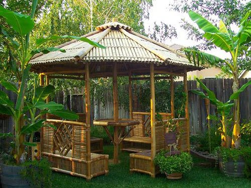 Backyard Gazebo Design, Bacyard Gazebo ideas, small bacyard ideas, small backyard landscaping, backyard design, bacyard gazebo, bamboo backyard design, garden house design, garden house design ideas, garden gazebo design, garden gazebo ideas, bamboo garden gazebo