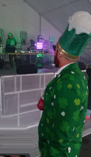 DJ Clinton Matthews spinning tunes at Shamrockfest