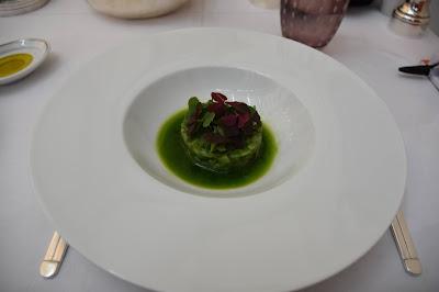 Tartare de sériole restaurant Il Carpaccio (8 ème), blog Délices à Paris.