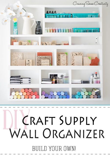 Craft Supply Oranizer DIY wall storage