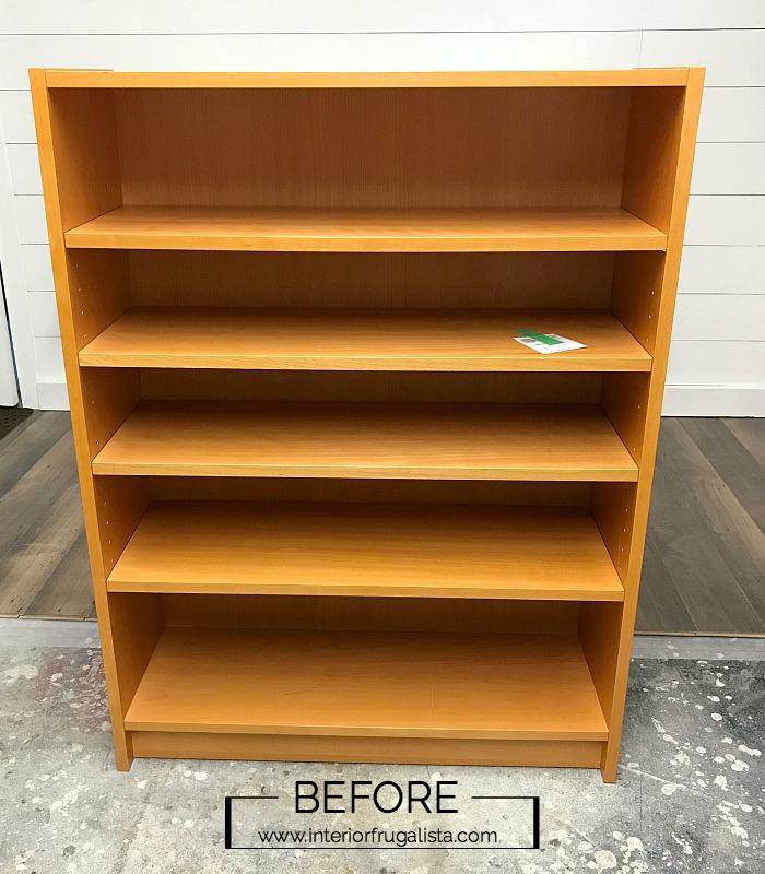 Repurposed Bookcase Dollhouse Before