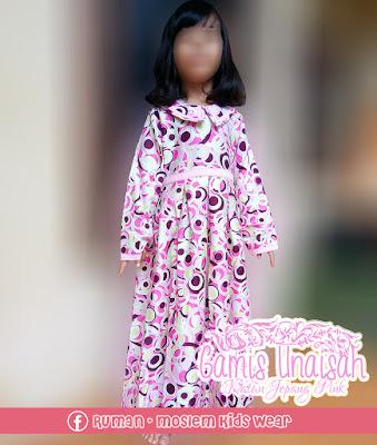 Gamis Anak Lucu Berkualitas Katun Jepang Pink