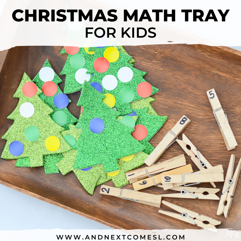Christmas Counting Fine Motor Math