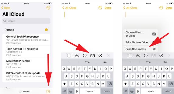 كيفية مسح المستندات ضوئيًا بهاتفك: iPhone