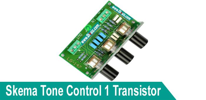 Skema Rangkaian Tone Control Sederhana 1 Transistor + Layout PCB