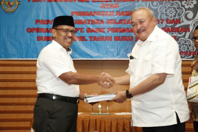 Gubernur Sumsel Terima Hasil Pemeriksaan PD 2017