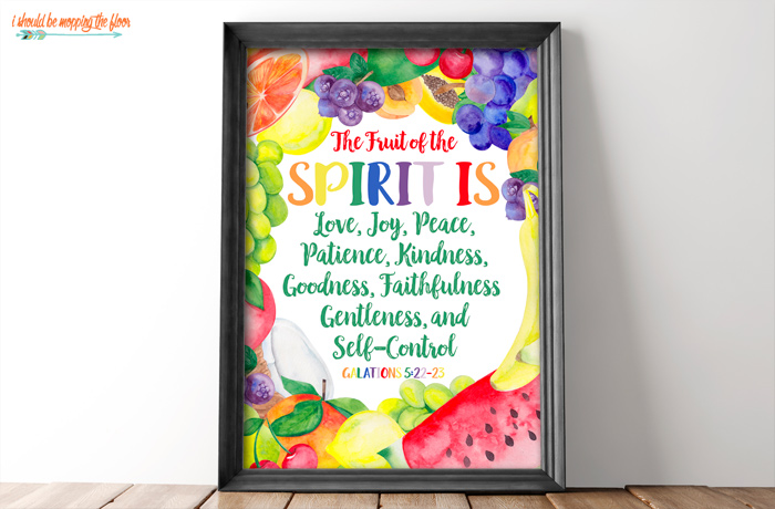 Colorful Fruit of the Spirit Printables
