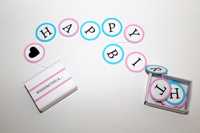 DIY, Basteln: Geburtstagsgeschenk Happy Birthday in der Streichholzschachtel, Geburtstagsgeschenk, Geldgeschenke und Geschenkideen - DIYCarinchen