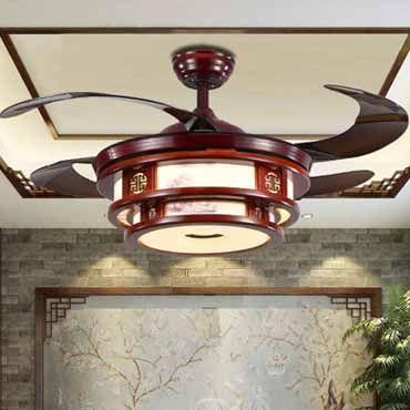 Những mẫu quạt trần đèn trang trí phòng khách mới nhất 2018