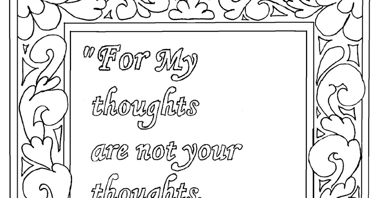 coloring pages for kids by mr  adron  isaiah 55 8 print