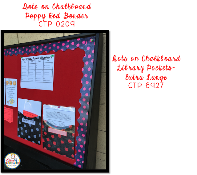 CTP Chalk It Up Colloection Dots on a Chalkboard- Parent Information Board