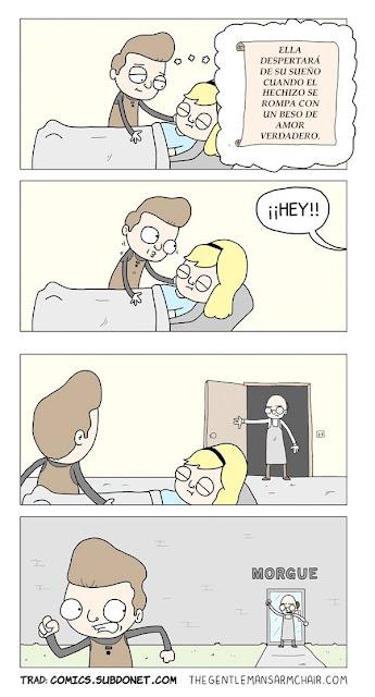 Meme de humor sobre La bella durmiente