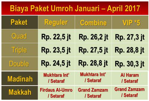 Paket Umroh April 2017 Jakarta Langsung Jeddah, Book Now !