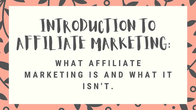 Introduction To Affiliate Marketing: What Affiliate Marketing Is and What It Isn't.  How To Get Started With Affiliate Marketing And Make Money On Your First Day.