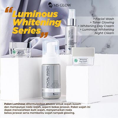 msglow luminous whitening series
