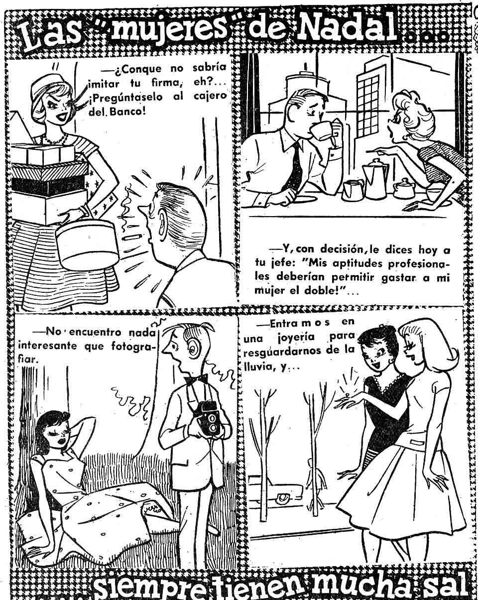 Las mujeres de Nadal en el DDT nº 396 Bruguera