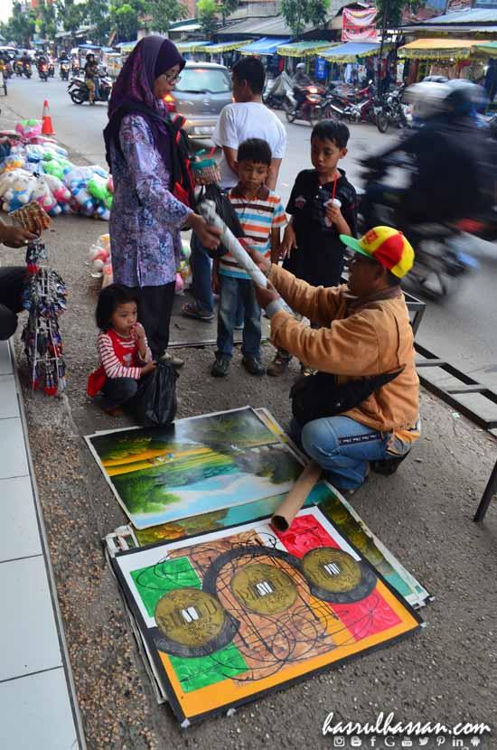 Peniaga Jalanan Kota Bandung Indonesia