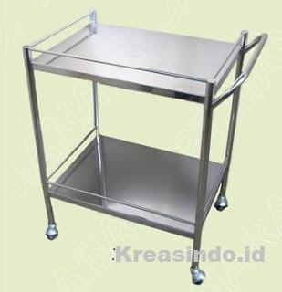 Harga Jual Perlengkapan Rumah Sakit Meja Stainless atau Meja Besi