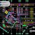 مخطط وصفي وكالة سيارات بشكل مميز اوتوكاد dwg