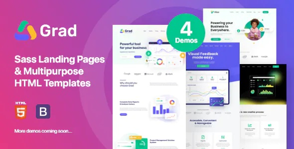 Best Sass Landing Pages & Multipurpose HTML Template