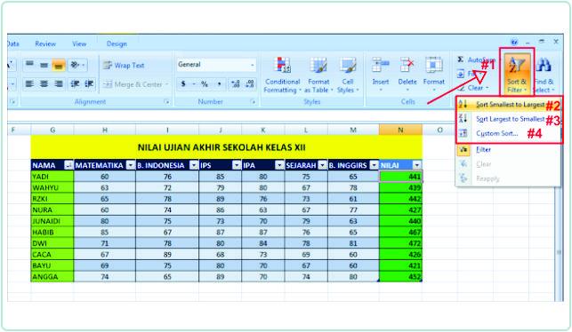 Cara Mengurutkan Nama Sesuai Abjad Di Excel