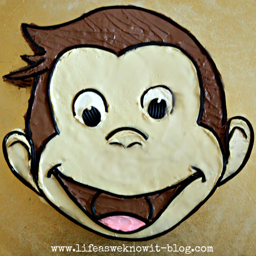 Life as we know it how to create a curious george cake for Curious george cake template