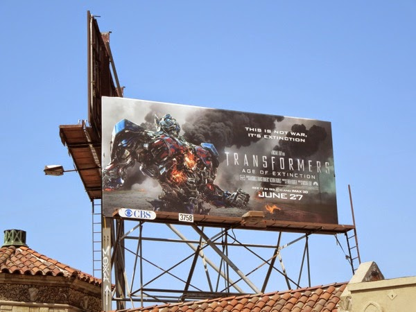 Transformers 4 Age of Extinction movie billboard