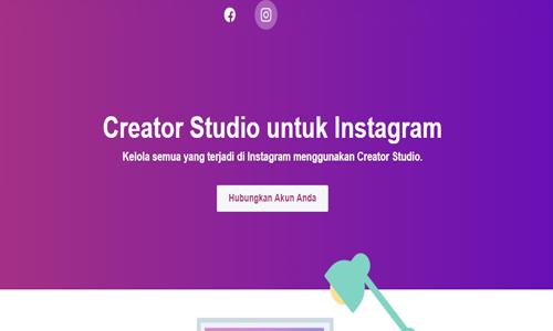 cara menambahkan instagram ke creator studio facebook