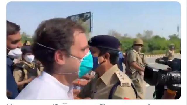 एक्सप्रेस-वे पर कांग्रेस कार्यकर्ताओं की पुलिस से झड़प, राहुल बोले- ये मुझे रोक नहीं पाएंग