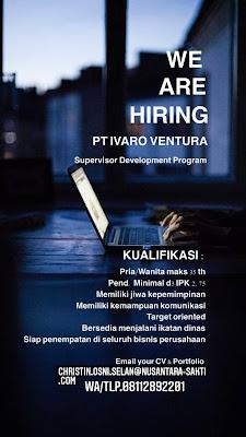 Loker Kupang Supervisor Development Program di PT Ivaro Ventura