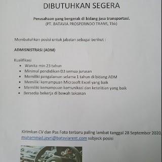 Administrasi di PT Batavia Prosperindo Trans Tbk