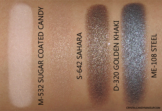 Make Up For Ever Artist Shadow Palette Jamie Chung Review Swatch M-532 S-642 D-320 ME-108