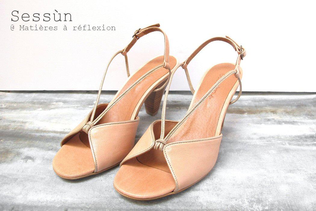 SOLDES sandale cuir chair Inca Sessùn
