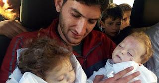 Το λυπηρό αντίο ενός πατέρα στα δίδυμα μωρά του στη Συρία έχει λυγίσει όλο το διαδίκτυο