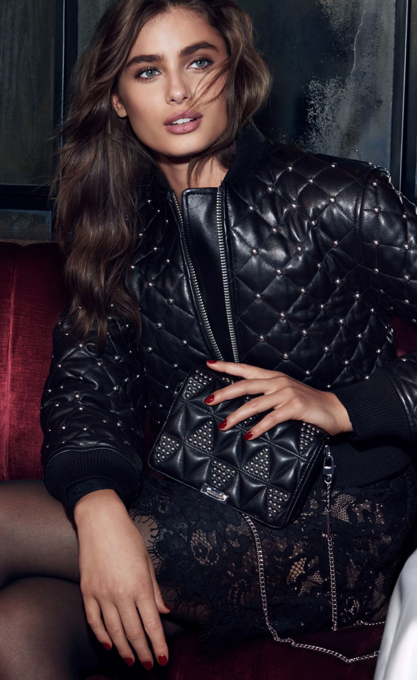 MICHAEL MICHAEL KORS Studded Quilted-Leather Bomber Jacket