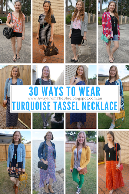30 ways to wear a turquoise tassel necklace away from the blue blog
