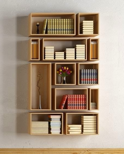 INSPIRING UNCONVENTIONAL GEOMETRIC SHELVES