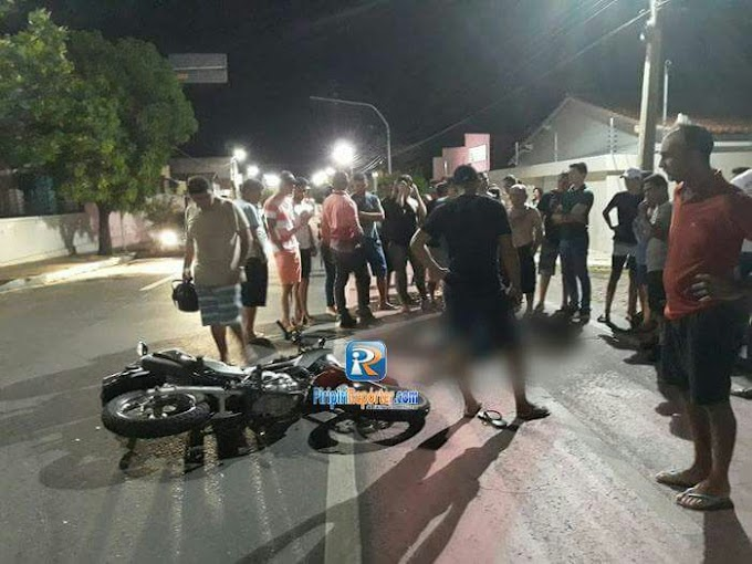 Carro atropela e mata motociclista na Av. Aderson Ferreira, em Piripiri