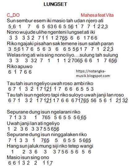 Kunci Piano Lagu Lungset : kunci, piano, lungset, Angka, Pianika, Lungset, Nella, Kharisma