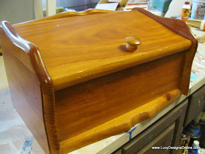 wood breadbox vintage