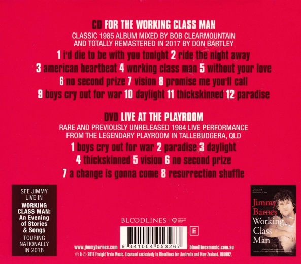 JIMMY BARNES - For The Working Class Man [Remastered Commemorative Limited Edition] (2017) back