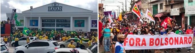 Manifestantes fazem atos a favor e contra Bolsonaro em São Luís