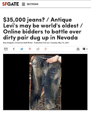 サンフランシスコの新聞SFGATEのネバダジーンズについての記事のタイトル画像