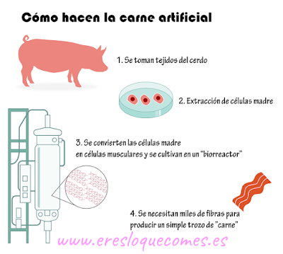 carne artificial