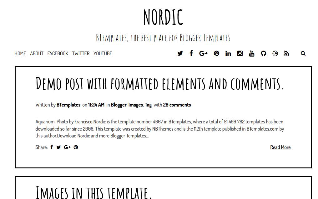Nordic Blogger Template