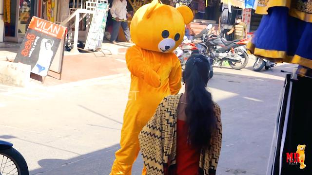 Dancing Funny Teddy Bear On public || public Funny Teddy Bear in Dancing || Funny Chirala ||#MRCP