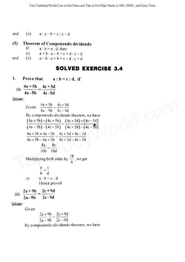 Solved Exercise 3 4 Class 10 Maths Solution Notes (With Free