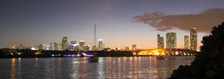 Vista panorámica del centro de Miami
